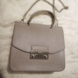 Furla Mini Julia Leather Top-handle Bag_Light Grey